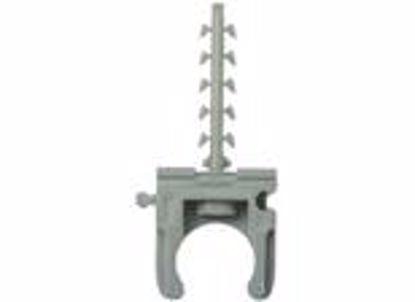Изображение Клипса для крепления труб 16 мм  с шурупом
