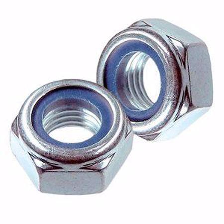 Picture for category Гайка с нейлон вставкой (стопорное кольцо) DIN985