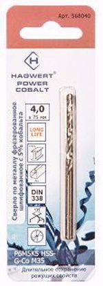 Изображение Сверло металл 1,5х40мм Power-Cobalt Hagwert 2шт/уп