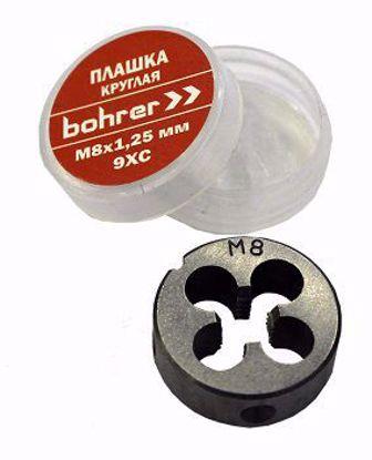 Изображение Плашка Bohrer круглая  М6,0 х 1,0 мм метрическая