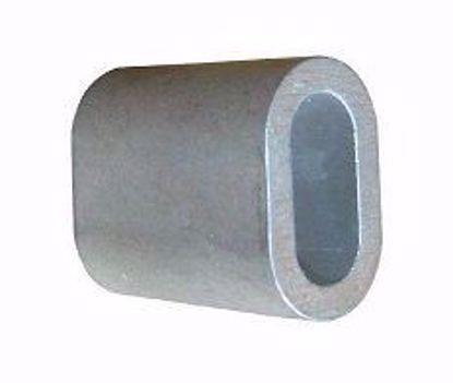 Изображение Зажим троса алюминиевый DIN 3093  2,5мм (50)