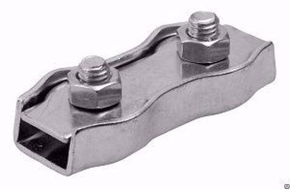 Изображение Зажим  для стальных канатов двойной оц.ф10