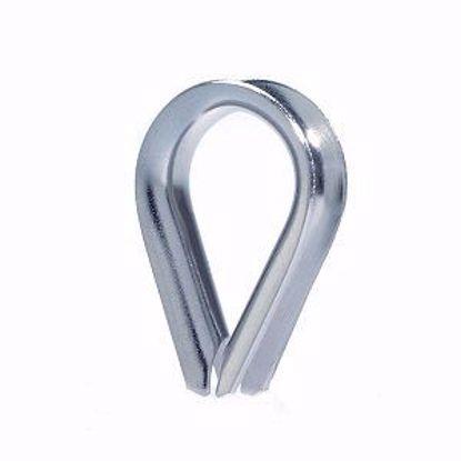 Изображение Коуш для стальных канатов цинк  D 4 DIN 6899
