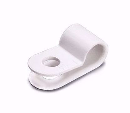 Picture of Клипса для крепл. кабеля  5мм бел серьга (500)