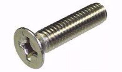 Изображение Винт 5х10 DIN 965 А2 потай крестообразный шлиц нержавеющая сталь