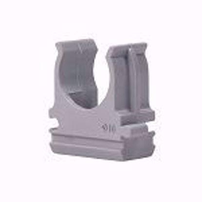 Изображение Клипса для крепления труб  20 мм (серая) APRO (50)